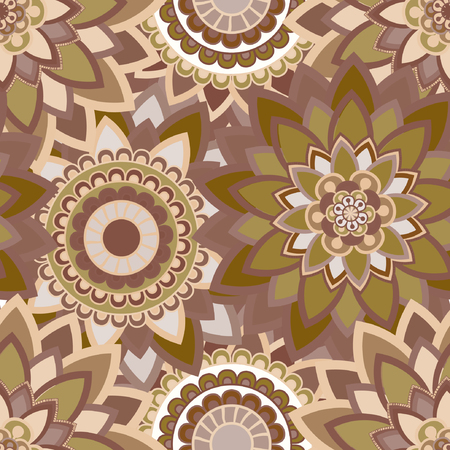 used ornament: Abstract seamless pattern ornament. Mandala repeat pattern. Vintage background. Seamless pattern can be used for wallpaper, pattern fills, textile, fabric, wrapping, surface textures for design. Vector illustration.