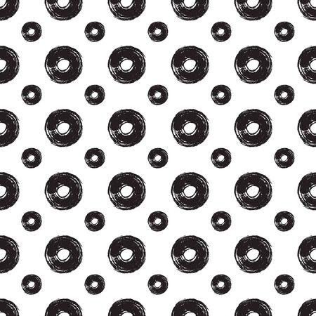 textur: Polka dot textur. Hand drawn seamless pattern. Vector illustration Illustration