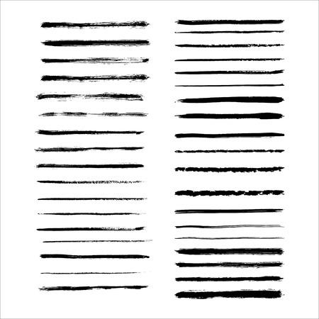 Vector art brushes. Grunge brush set. Black ink brush. All used brushes are included in brush palette.
