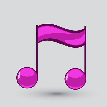 crotchets: Note sing icon. Musiacal symbol. Vector illustration