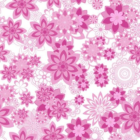 orintal: Mandala pattern, floral elements, decorative ornament. Seamless pattern background.  Arab, Asian, ottoman motifs. Vector illustration