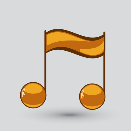 Note sing icon. Musical symbol. Vector illustration