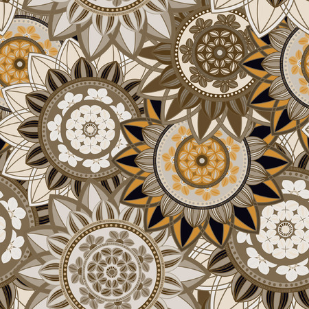Vintage seamless pattern background.