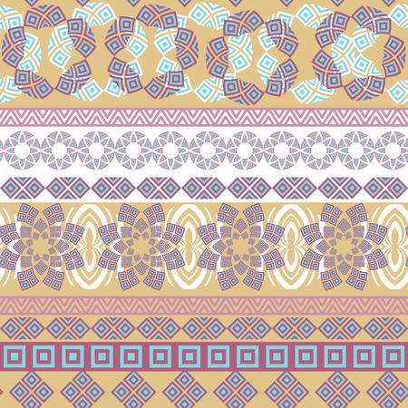 seamless tribal. Résumé de fond avec ornement ethnique. Seamless avec différentes formes géométriques. Vector illustration Vecteurs