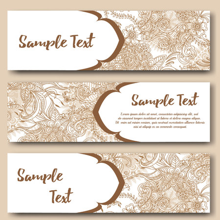 Poster Template Mehndi Henna Tattoo Design. Royalty Free Cliparts ...