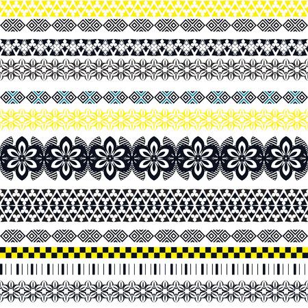 seamless tribal. Résumé de fond avec ornement ethnique. Seamless avec différentes formes géométriques. Vector illustration