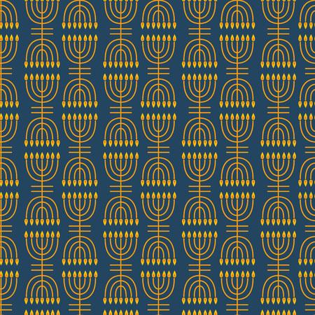 hanukka: Hanukkah seamless pattern. Hanukkah simbols. Hanukkah candles, menorah. Vector illustration for jewish holiday Hanukkah. Illustration