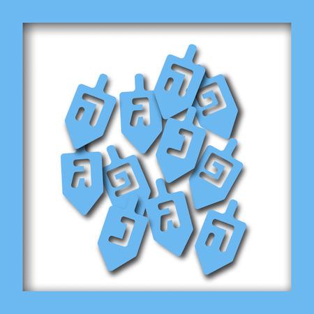 Happy Hanukkah greeting card design. Vector illustration for jewish holiday Hanukkah.