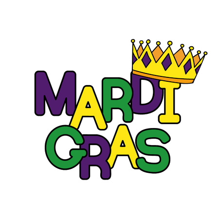 new orleans: Mardi Gras or Shrove Tuesday. Colorful background with crowns. Vector illustration