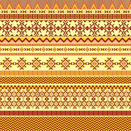 Ethnic seamless pattern with triangle and abstract geometric ornament. Tribal background texture. Native american navajo aztec pattern. Vector illustration hipster background. Illustration