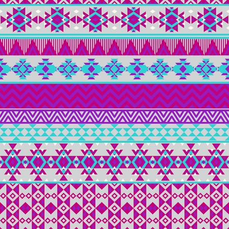 Ethnic seamless pattern with triangle and abstract geometric ornament. Tribal background texture. Native american navajo aztec pattern. Vector illustration hipster background. 向量圖像