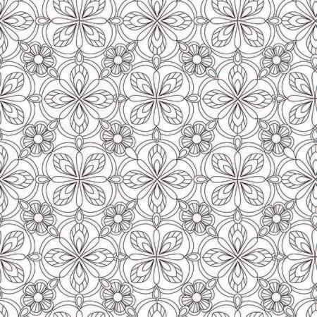 Doodles mandala patroon. Volwassen kleurplaat. Zwart-witte bloemenelementen.