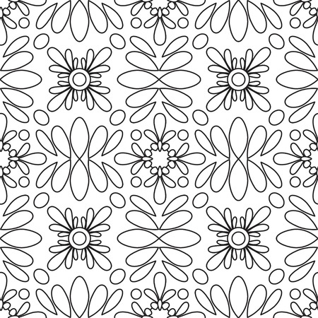 Doodles mandala  pattern. Adult coloring page. Black and white floral elements.