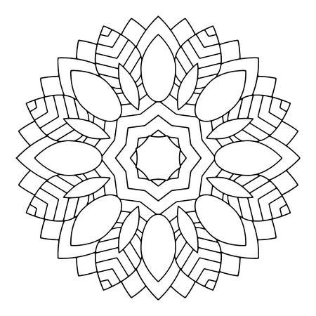 Mandala De Flores Ilustración Vectorial. Modelo Oriental, Elementos ...