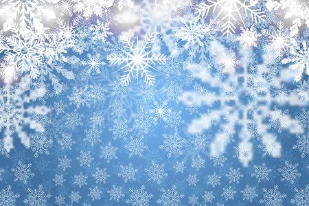 Blau schneebedeckt mit weißen Schneeflocken. Standard-Bild - 89919410