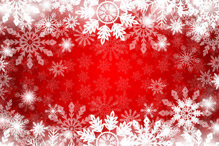 Red Christmas pattern with white snowflakes.