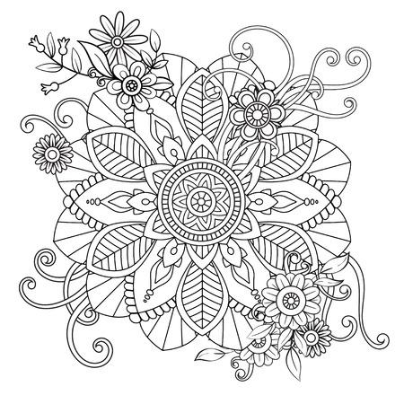 Floral Mandala Pattern Illustration