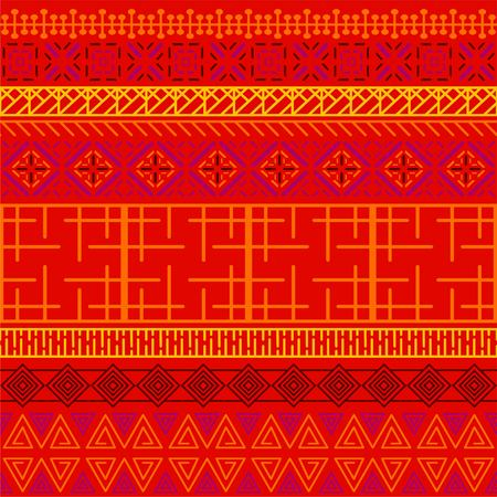 Tribal ethnic seamless pattern. Abstract geometric ornament with African motifs. Perfect for textile print, wallpaper, cloth design, tissue, wrapping paper and fabric design. Banque d'images - 100958315