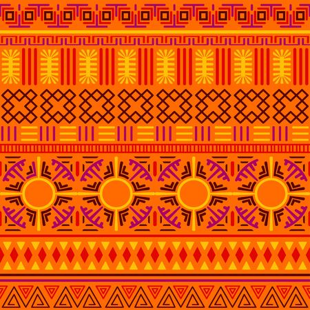 Tribal ethnic seamless pattern. Illustration