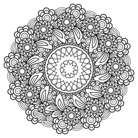 Floral Mandala Pattern  イラスト・ベクター素材