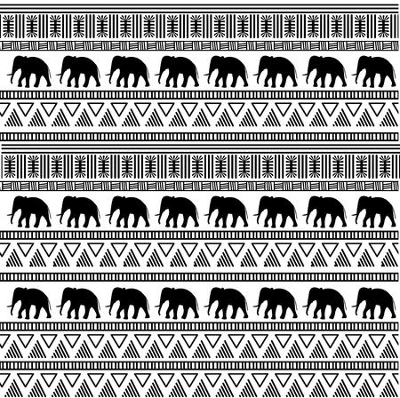 Tribal ethnic seamless pattern. Illusztráció