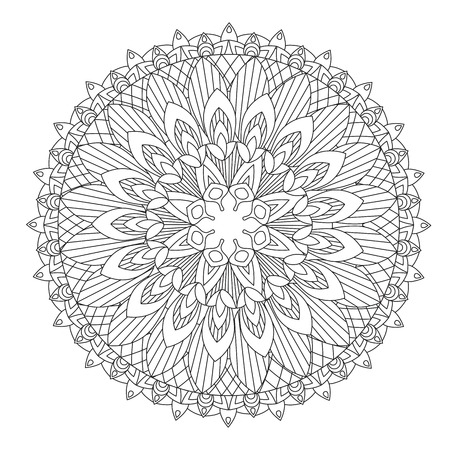 Flower Mandala vector illustration