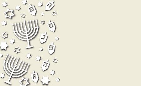Hanukkah background paper cut design Illustration