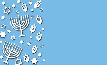 Blauer Chanukka-Hintergrund Vektorgrafik