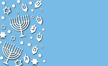 Blue Hanukkah background
