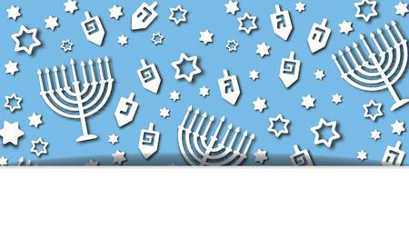 Blue Hanukkah background