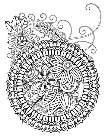 mandala adult coloring pages