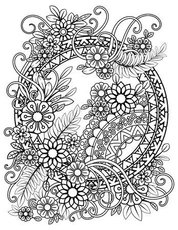 Floral Mandala Pattern Ilustrace