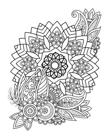 Floral Mandala Pattern Vectores