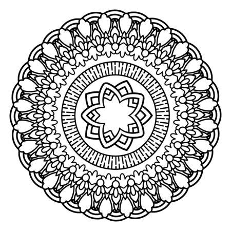 Flower Mandala vector illustration
