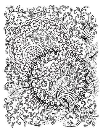 Floral Mandala Pattern 向量圖像