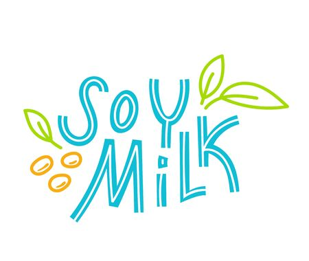 Soy milk hand drawn lettering