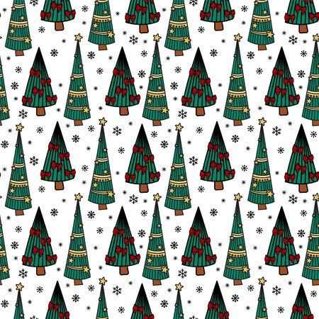 Christmas seamless pattern 向量圖像