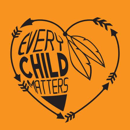 Every Child Matters Vector Illustration Vecteurs