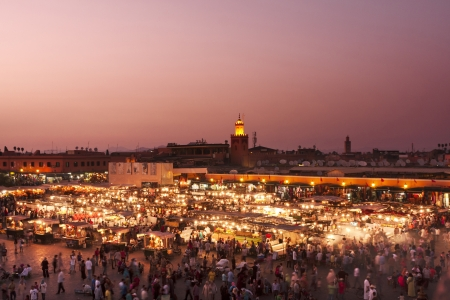 intangible: Marrakech, Morocco - DJemaa el Fna square  Masterpieces of the Oral and Intangible Heritage of Humanity   at sunset