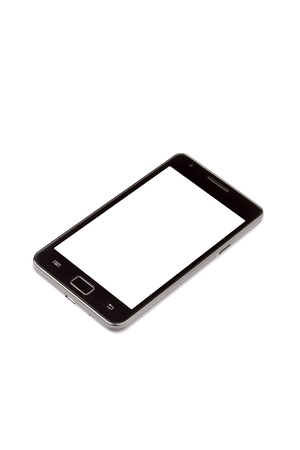 A Smart Phone displaying a blank white screen  Stock Photo - 15513018