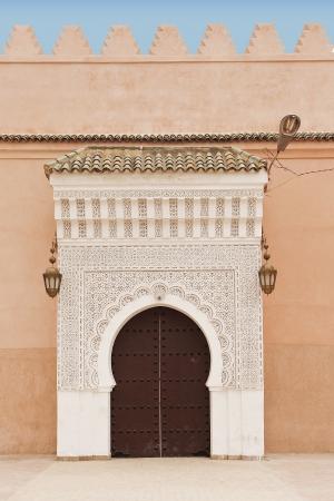 An external port of El Badi Palace in Marrachesh