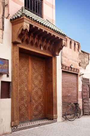 Door of a house in the Souk in Marrakech