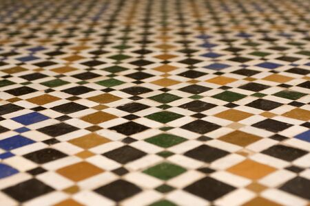 Texture of a Arabic floor in Marrakech, Morocco