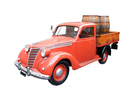 A Vintage Italian Pickup car with Barrels