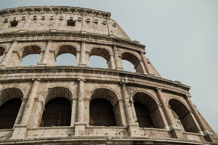 bottom and close view of coliseum
