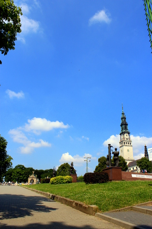 czestochowa: Tower of the sanctuary in Czestochowa in Poland.