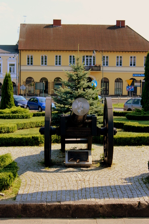 seventeenth: A model of cannon from the time of Swedish Deluge in the seventeenth century in Poland standing in the park under the walls of Jasna Gora in memory of winning its defense.