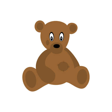 clumsy: brown bear ,vector illustration