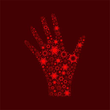 phalanx: la mano sinistra sullo sfondo Vettoriali
