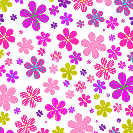 floral background of daisies colored,vector illustration Illustration